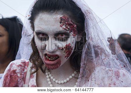 Asbury Park Zombie Walk 2013 - Bride Zombie