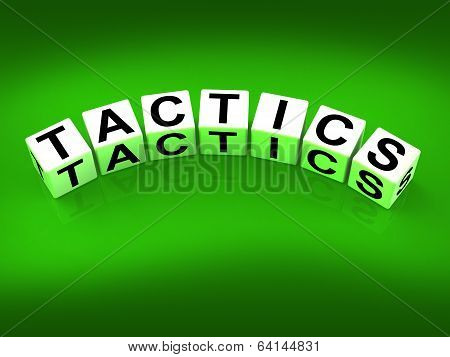 Tactics Blocks Show Strategy Approach And Technique