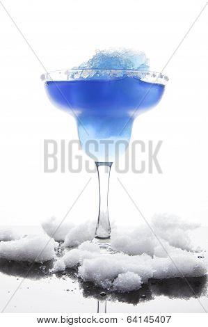 Blue Frozen Iceberg Margarita