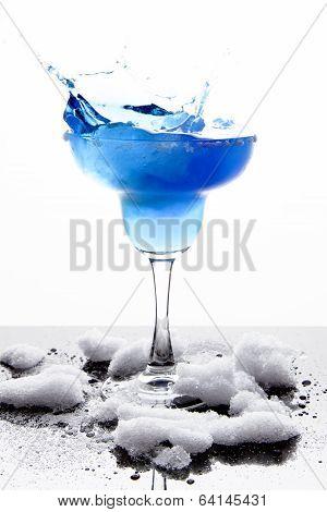 Blue Frozen Iceberg Margarita Splash
