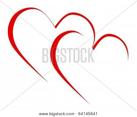 Intertwined Hearts Mean Romanticism Togetherness And Passion