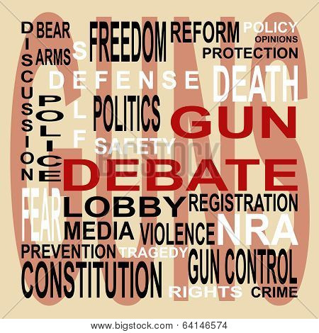 Gun Debate Word Cloud