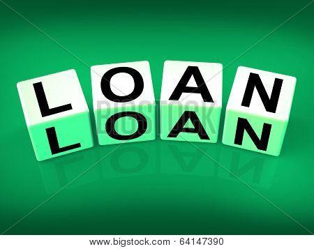Loan Blocks Mean Funding Lending Or Loaning
