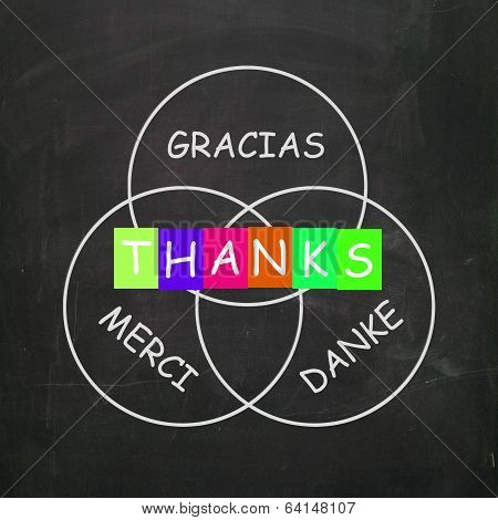 Gracias Merci And Danke Mean Thanks In Foreign Languages
