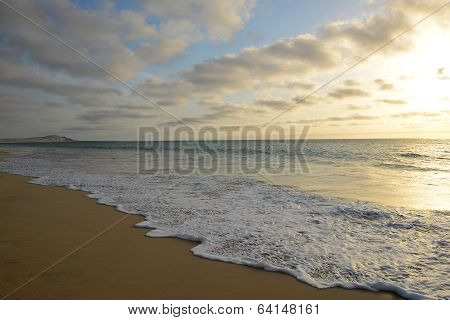 Sunset At Praia De Salines Beach, In Boa Vista, Cape Verde