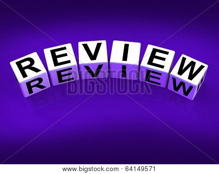 Review Blocks Mean Evaluating Assessing And Reviewing