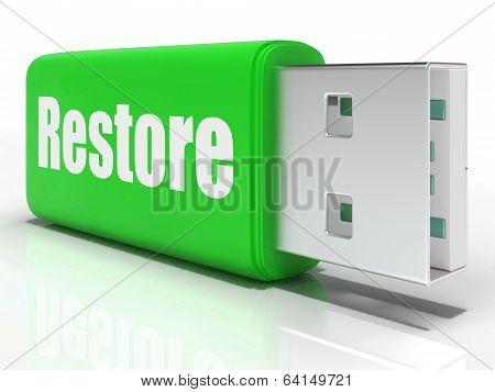 Restore Pen Drive Means Data Safe Copy Or Backup