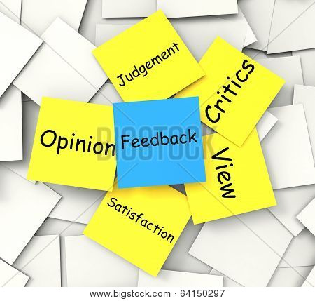 Feedback Notes Means Judgement Review And Critics
