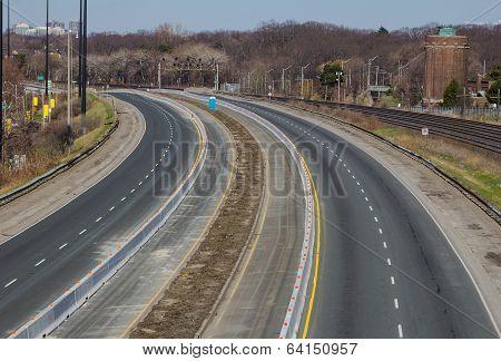 Gardiner Expressway With No Traffic