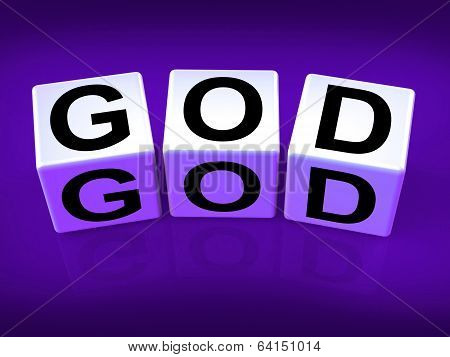 God Blocks Represent Deities Gods Or Holiness