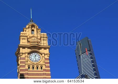 Eureka tower and Flinders station