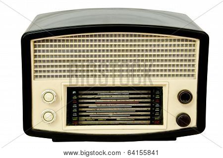 Vintage Radio Isolated Over White Background