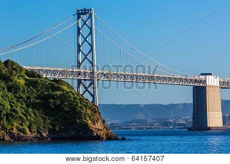 Bay Bridge in San Francisco From Treasure Island California USA