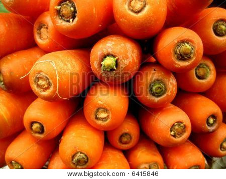 carrots on a pile