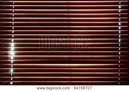 Sunlight Behind Vertical Blinds