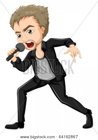 Illustration of a solo performer on a white background