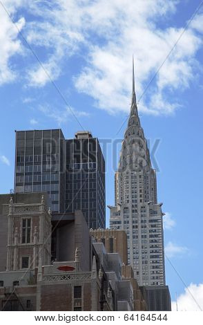 Facade of the Chrysler Building in New York