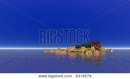 Lonely Atlantic Island