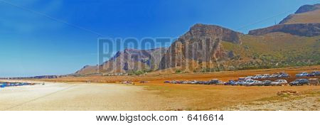 Panoramic Sicily landscape - Italy