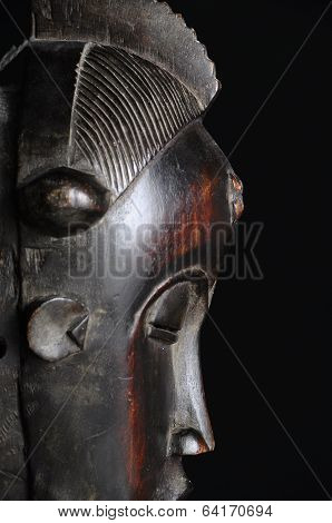 Mask In Front Of Dark Background