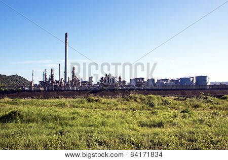 Oil Refinary At Prospecton In Durban South Africa