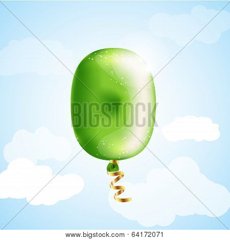 Number null balloon
