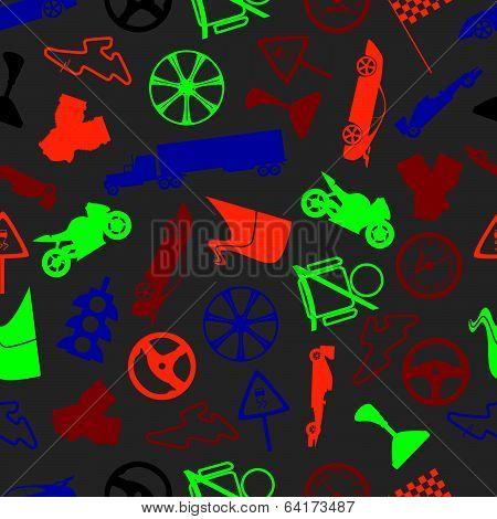automotive colorful pattern eps10
