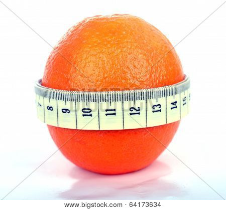 Orange with tape measure