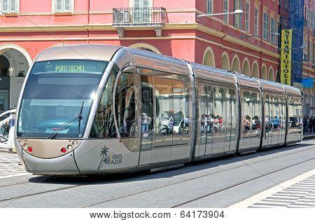 Nice - Tram In City