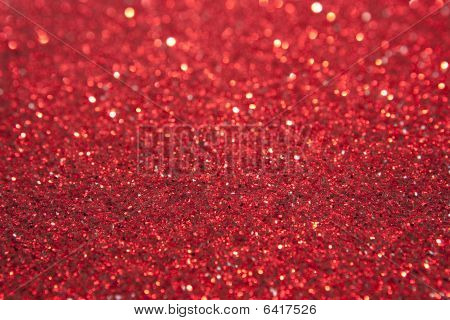 Red Glitter Selective Focus