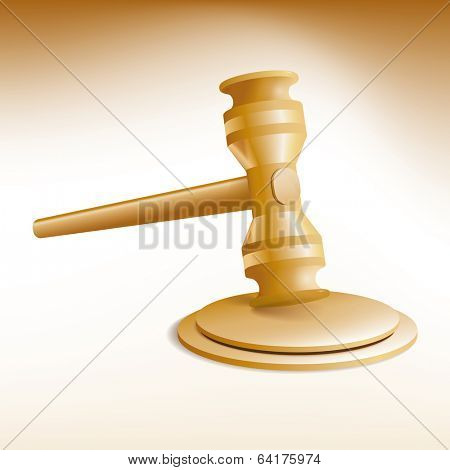 Auction Gavel. Vector Illustration of auction gavel and stand