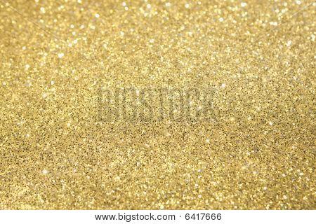 Enfoque selectivo Glitter oro