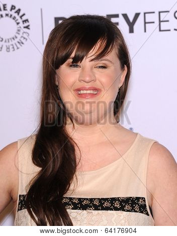 LOS ANGELES - MAR 28:  Jamie Brewer arrives to the Paleyfest 2014: American Horror Story COVEN  on March 28, 2014 in Hollywood, CA