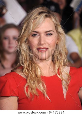 LOS ANGELES - MAR 18:  Kate Winslet arrives to the 'Divergent' Los Angeles Premiere  on March 18, 2014 in Westwood, CA