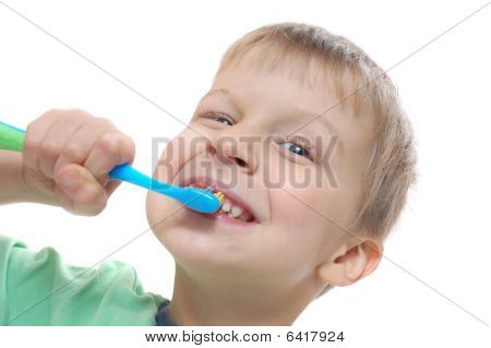 Child Cleaning Teeth