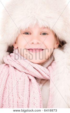 Happy Girl In Winter Hat