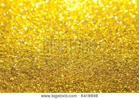 Gold Glitter Selective Focus