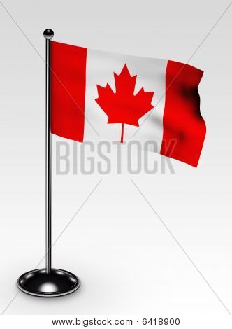 Small Canada Flag Clipping Path