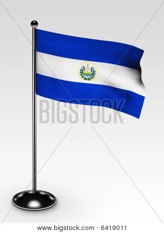 Small El Salvador Flag Clipping Path