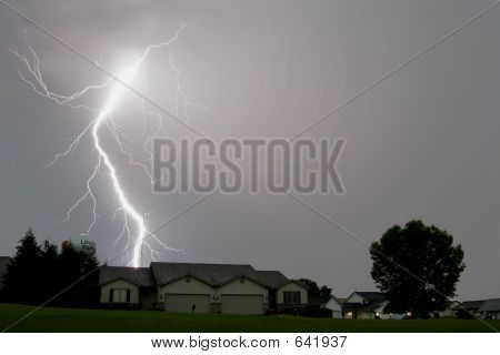 Lightning Strikes Landscapes
