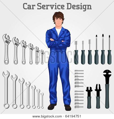 Young man mechanic