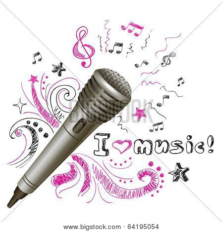 Music doodle microphone