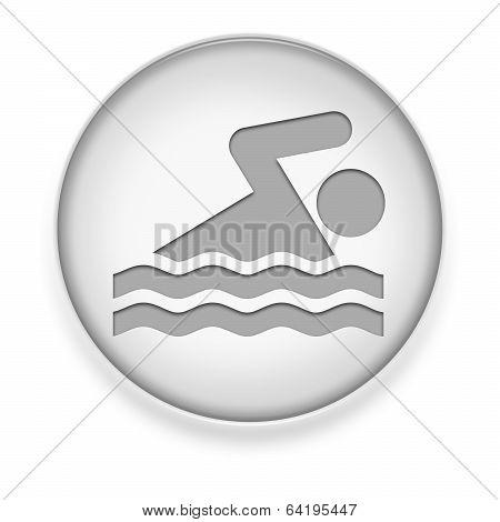 Icon, Button, Pictogram Swimming