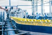 stock photo of manufacturing  - drinks production plant in China - JPG