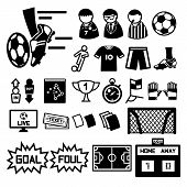 picture of offside  - Football soccer icons set  illustration vector eps10 - JPG