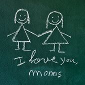 image of i love you mom  - the sentence I love you - JPG