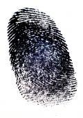 foto of dna fingerprinting  - Fingerprint with Black Ink on White Paper - JPG