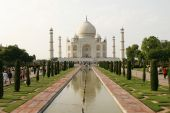People Visiting The Most Known Religious Site In India - The Taj Mahal Mosque In Agra, India poster