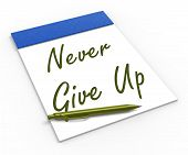 foto of persistence  - Never Give Up Notebook Meaning Determination Persistence And Motivation - JPG