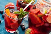 stock photo of punch  - Refreshing sangria drink  - JPG